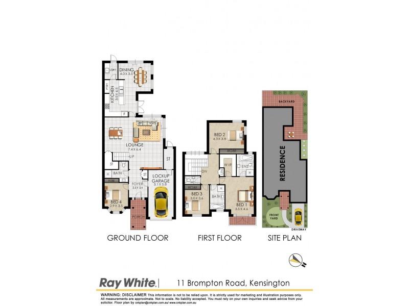 11 Brompton Road, Kensington NSW 2033 Floorplan
