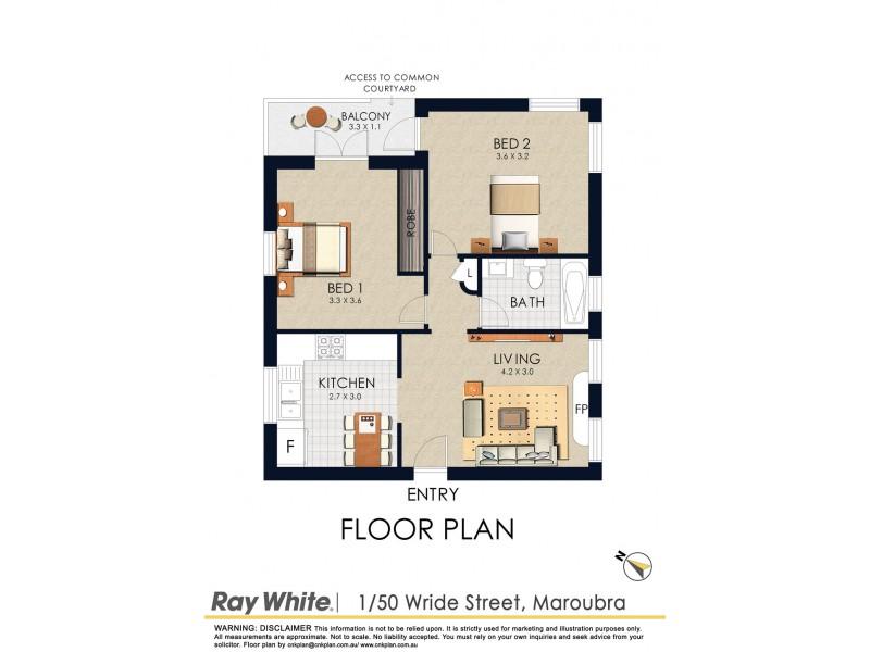 1/50 Wride Street, Maroubra NSW 2035 Floorplan