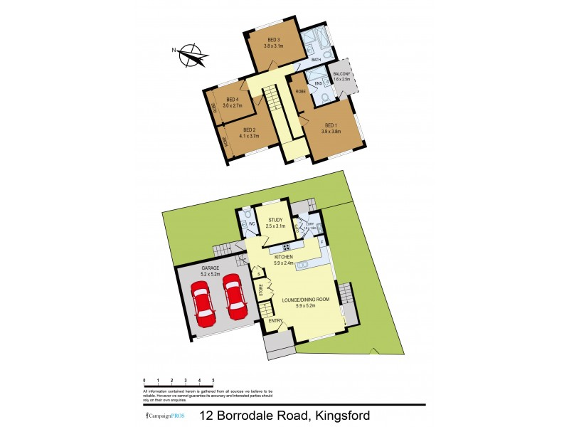 12 Borrodale Road, Kingsford NSW 2032 Floorplan