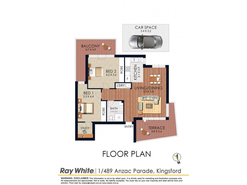 1/489 Anzac Parade, Kingsford NSW 2032 Floorplan