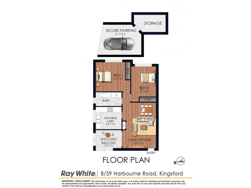 8/39 Harbourne Rd, Kingsford NSW 2032 Floorplan