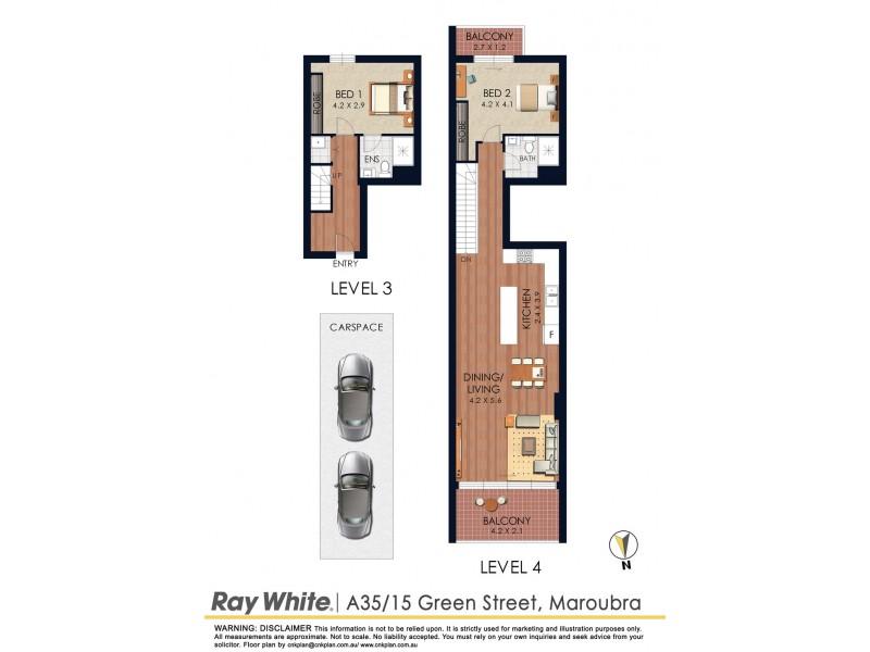 A35/15 Green Street, Maroubra NSW 2035 Floorplan