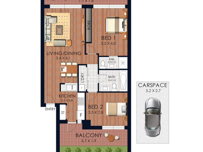 8/50-52 Anzac Parade, Kensington NSW 2033 Floorplan