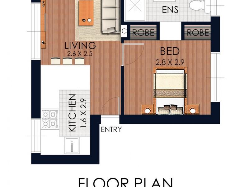 10/9 Forsyth Street, Kingsford NSW 2032 Floorplan