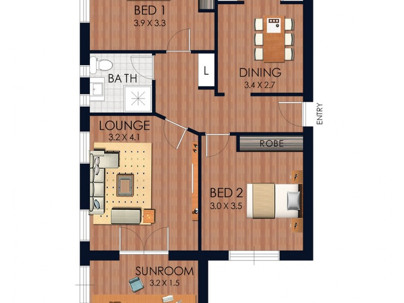 2/16B Meeks Street, Kingsford NSW 2032 Floorplan