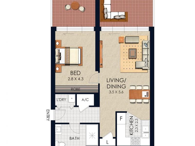 162/11 Potter Street, Waterloo NSW 2017 Floorplan