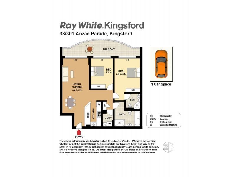 33/301-303 Anzac parade, Kingsford NSW 2032 Floorplan