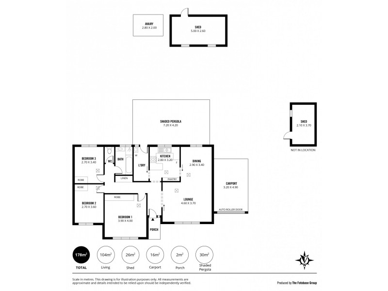 2 Leslie Court, Somerton Park SA 5044 Floorplan