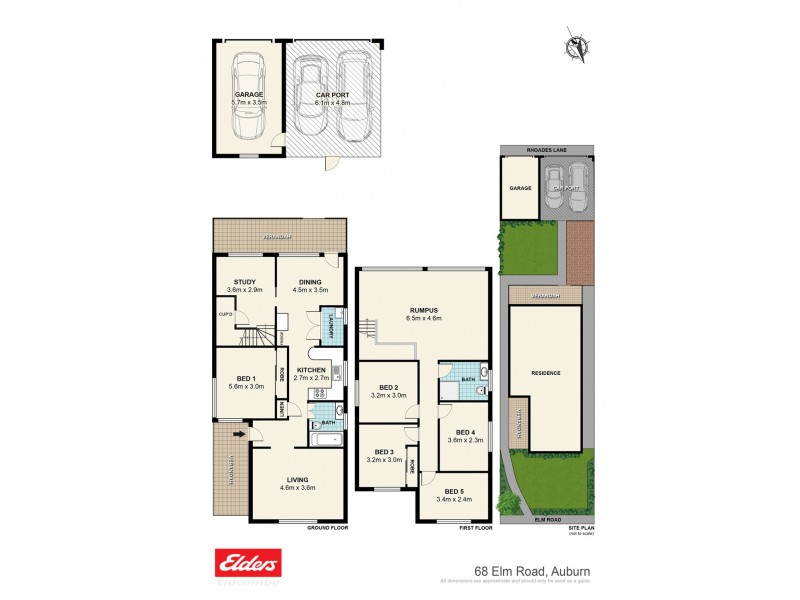 68 Elm Road, Auburn NSW 2144 Floorplan