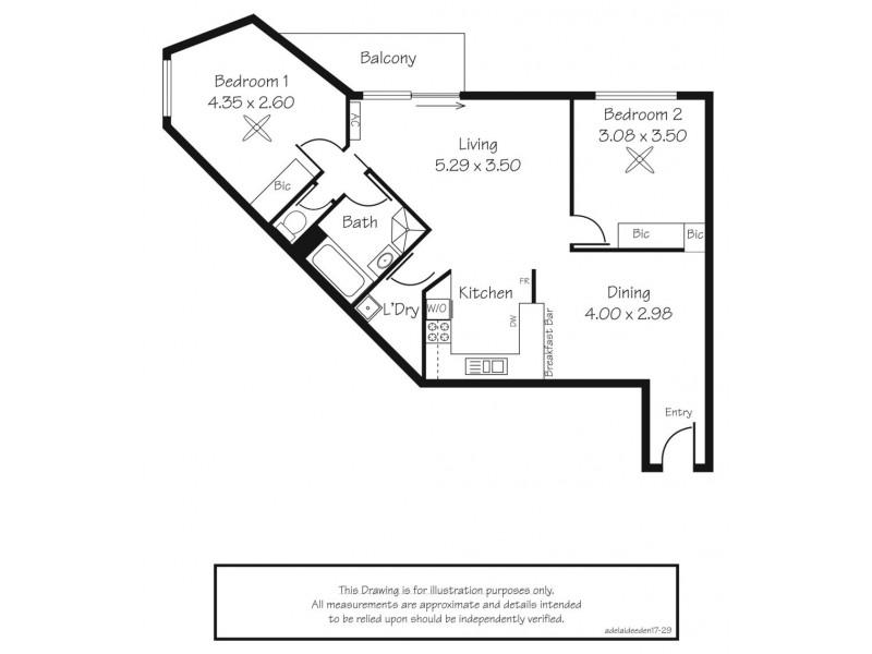 29D/17 Eden Street, Adelaide SA 5000 Floorplan