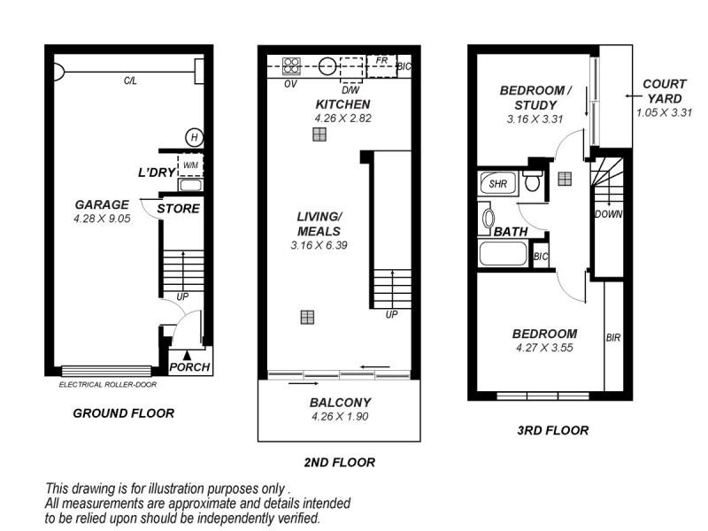3/15 Sydney Place, Adelaide SA 5000 Floorplan