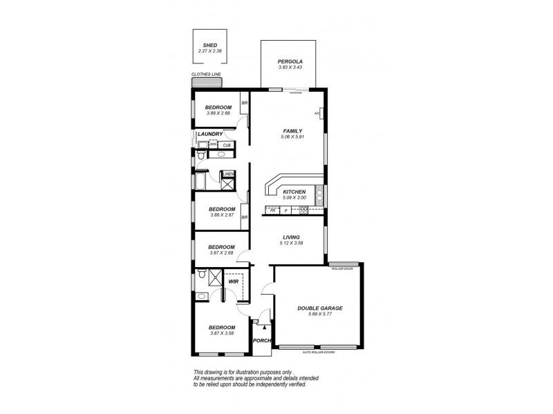 42 Barracoota Crescent, Aldinga Beach SA 5173 Floorplan