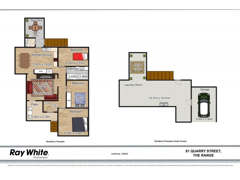 81 Quarry Street, The Range QLD 4700 Floorplan