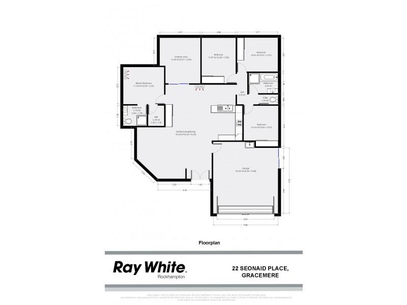 22 Seonaid Place, Gracemere QLD 4702 Floorplan
