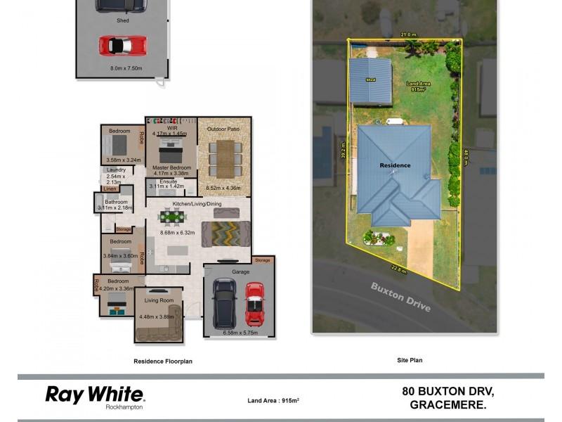 80 Buxton Drive, Gracemere QLD 4702 Floorplan