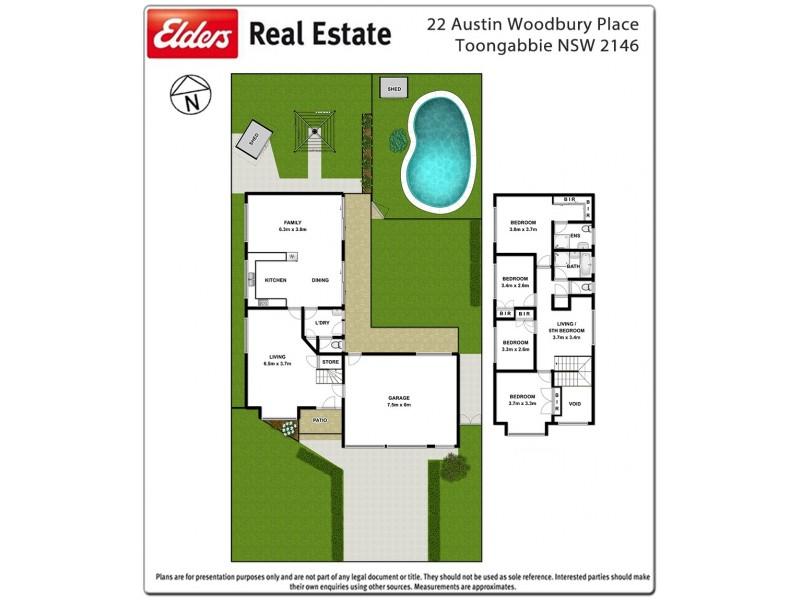 22 Austin Woodbury Place, Toongabbie NSW 2146 Floorplan