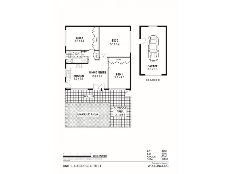 1/13 George Street, Wollongong NSW 2500 Floorplan
