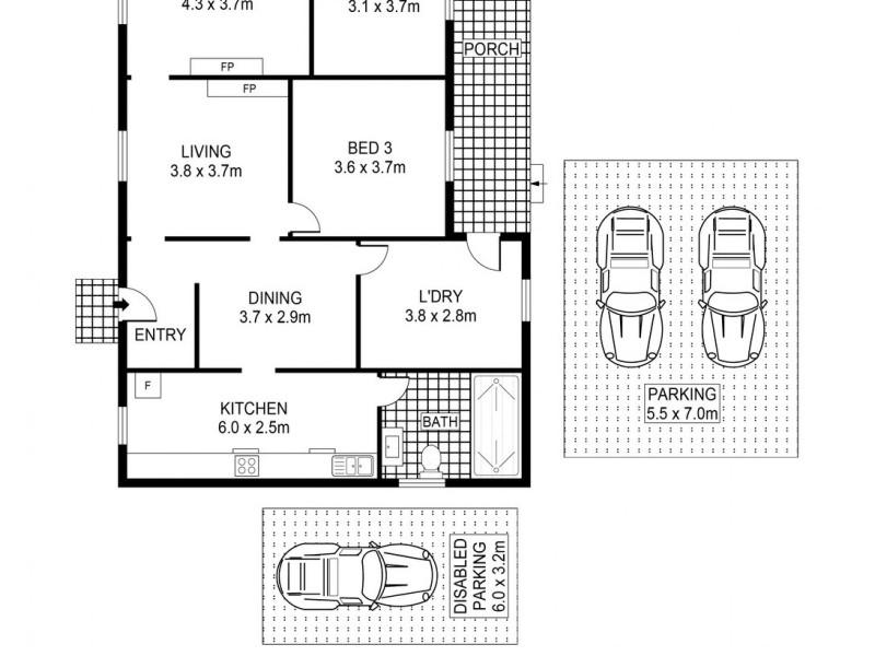 3 Brompton Road, Bellambi NSW 2518 Floorplan