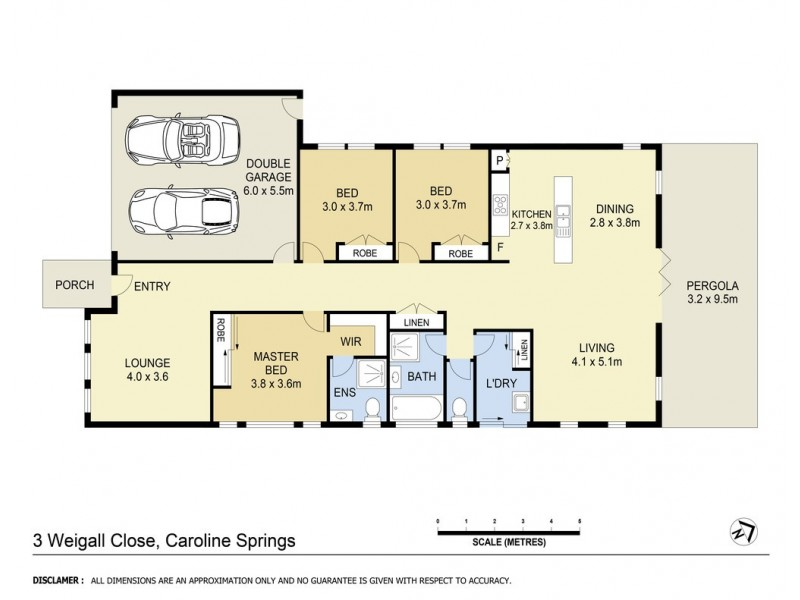 3 Weigall Close, Caroline Springs VIC 3023 Floorplan
