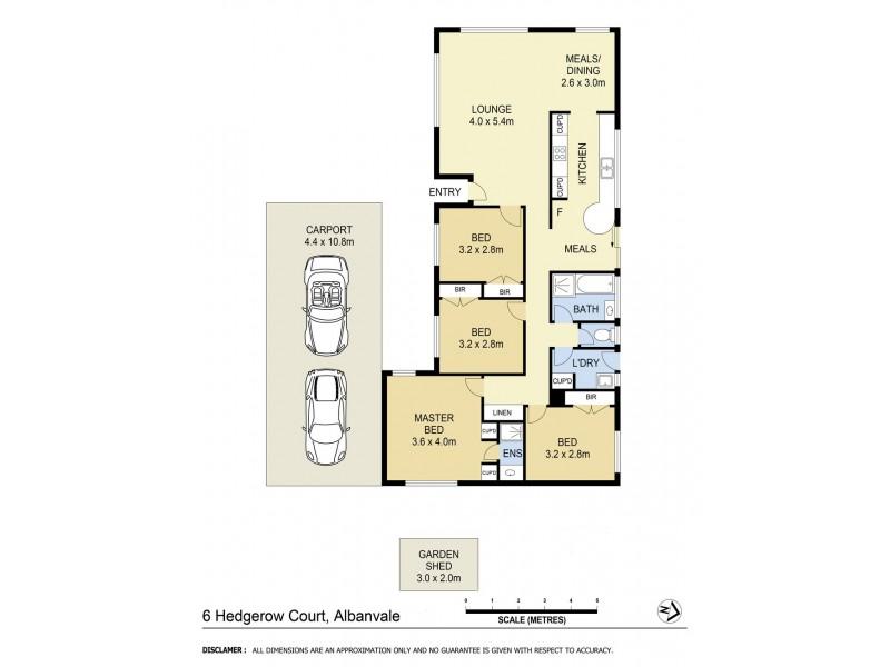 6 Hedgerow Court, Albanvale VIC 3021 Floorplan