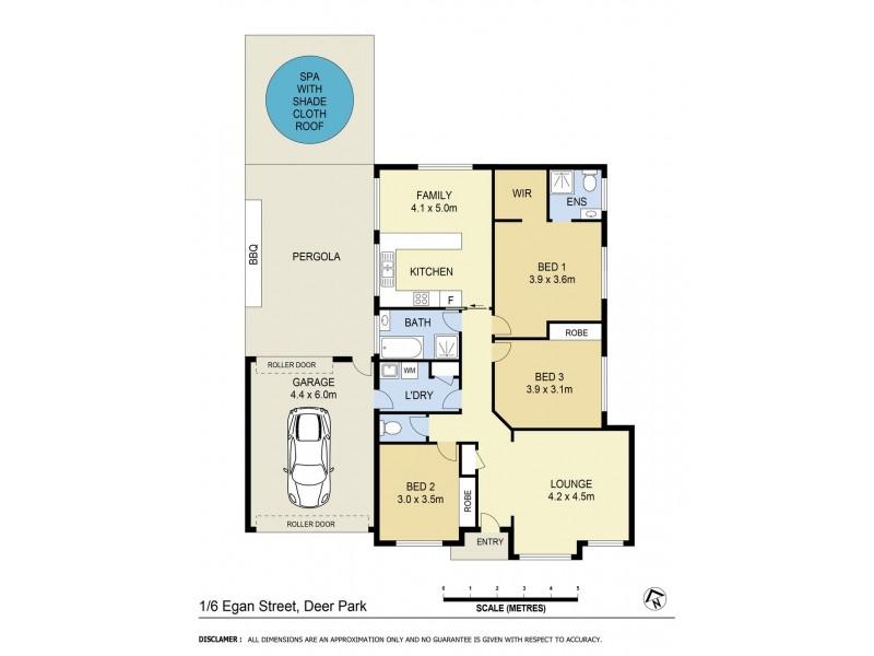 1/6 Egan Street, Deer Park VIC 3023 Floorplan