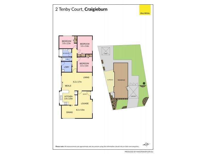 2 Tenby Court, Craigieburn VIC 3064 Floorplan