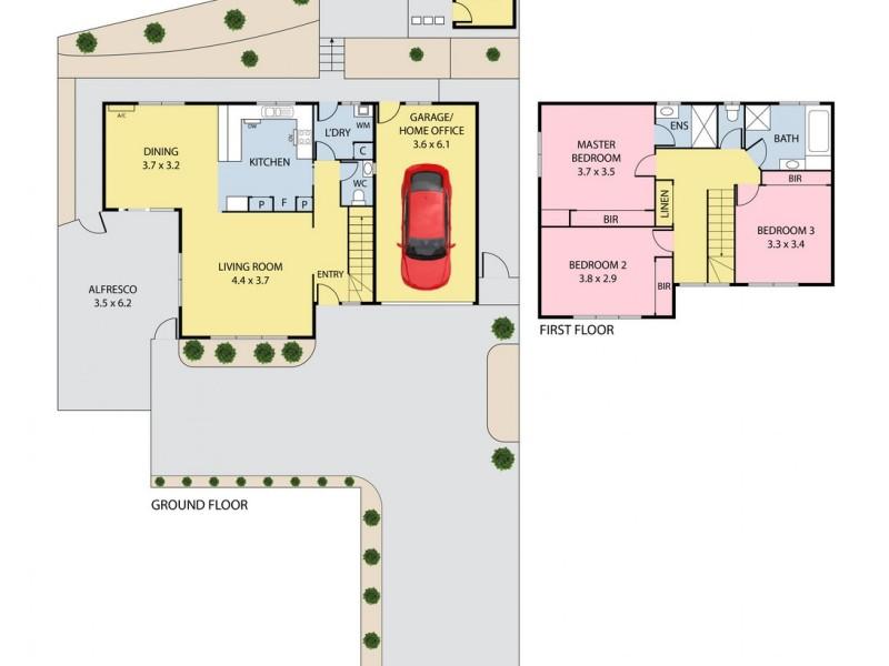 121A Romano Avenue, Mill Park VIC 3082 Floorplan