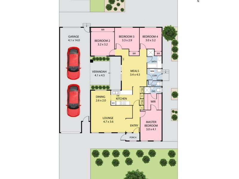 27 Roycroft Avenue, Mill Park VIC 3082 Floorplan