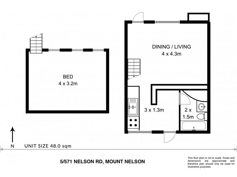5/571 Nelson Road, Mount Nelson TAS 7007 Floorplan
