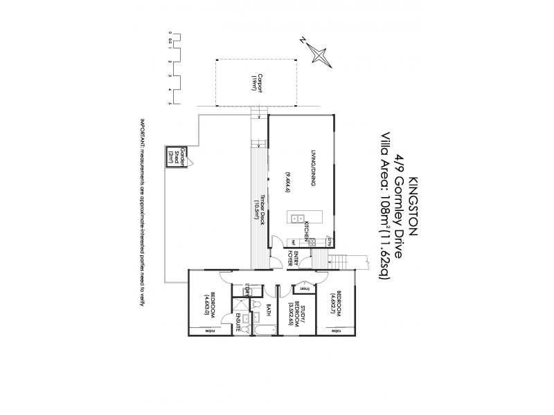 6/9 Gormley Drive, Kingston TAS 7050 Floorplan