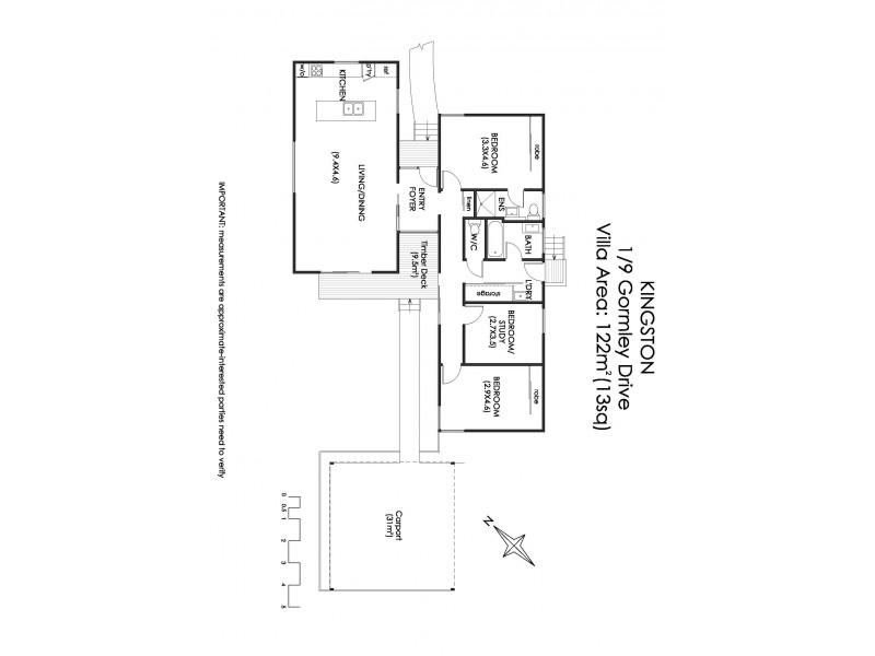 5/9 Gormley Drive, Kingston TAS 7050 Floorplan