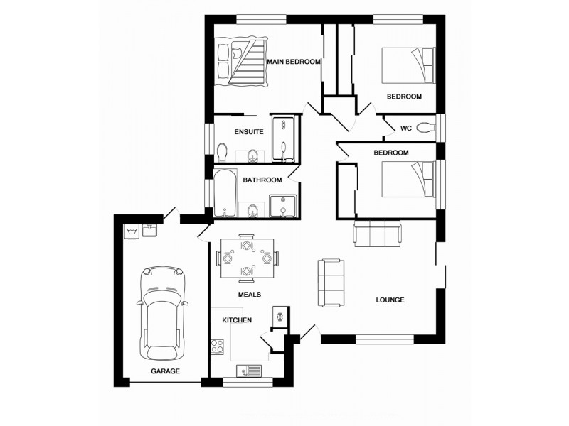 13 Dowling Crescent, Eagleby QLD 4207 Floorplan