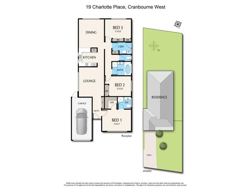 19 Charlotte Place, Cranbourne West VIC 3977 Floorplan