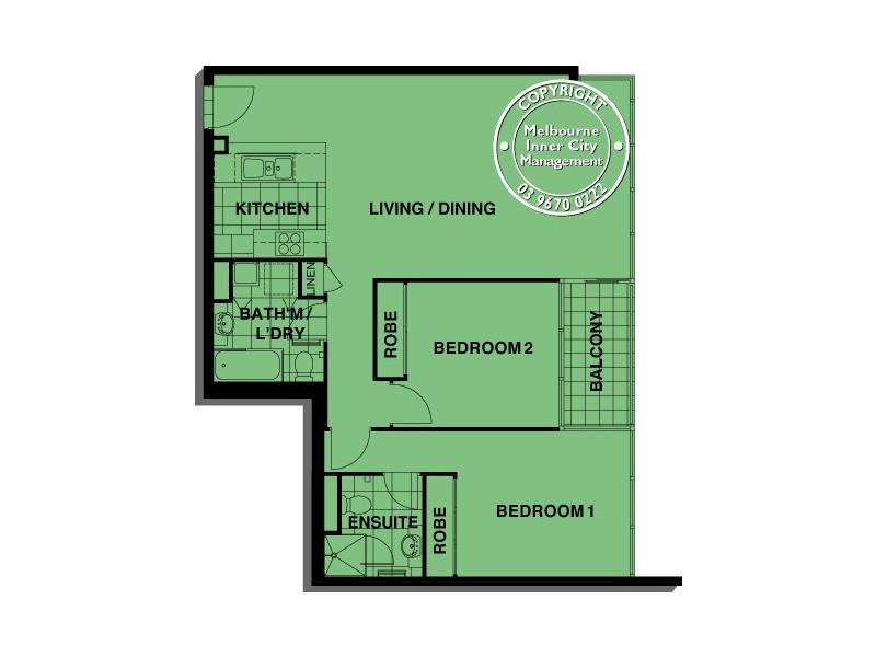 REF 081413/88 Kavanagh Street, Southbank VIC 3006 Floorplan