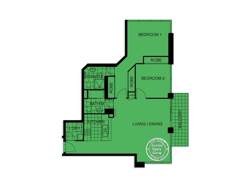 REF 101335/100 Kavanagh Street, Southbank VIC 3006 Floorplan