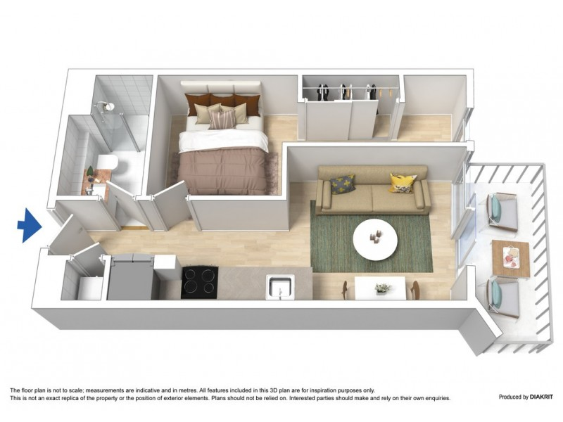 1404W/48 Balston Street, Southbank VIC 3006 Floorplan