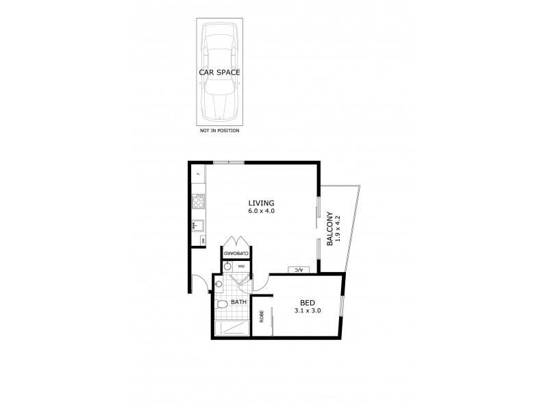 306/105 Nott Street, Port Melbourne VIC 3207 Floorplan