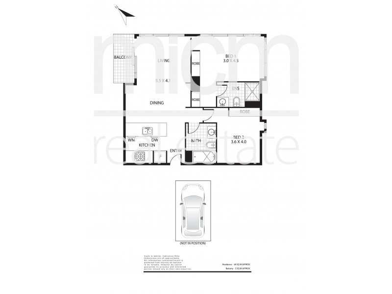2705/133 City Road, Southbank VIC 3006 Floorplan