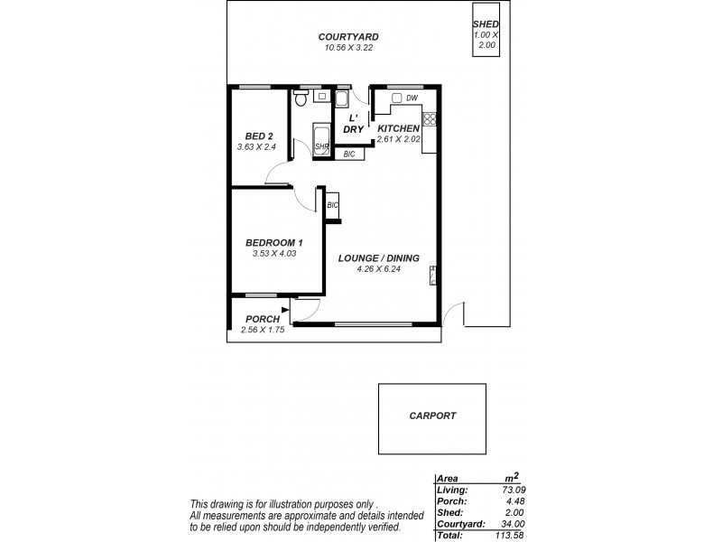 Unit 4, 19 Henry Street, Plympton SA 5038 Floorplan