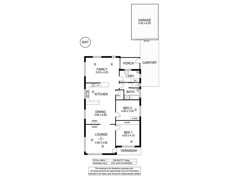 25 Griffiths Drive, Moana SA 5169 Floorplan