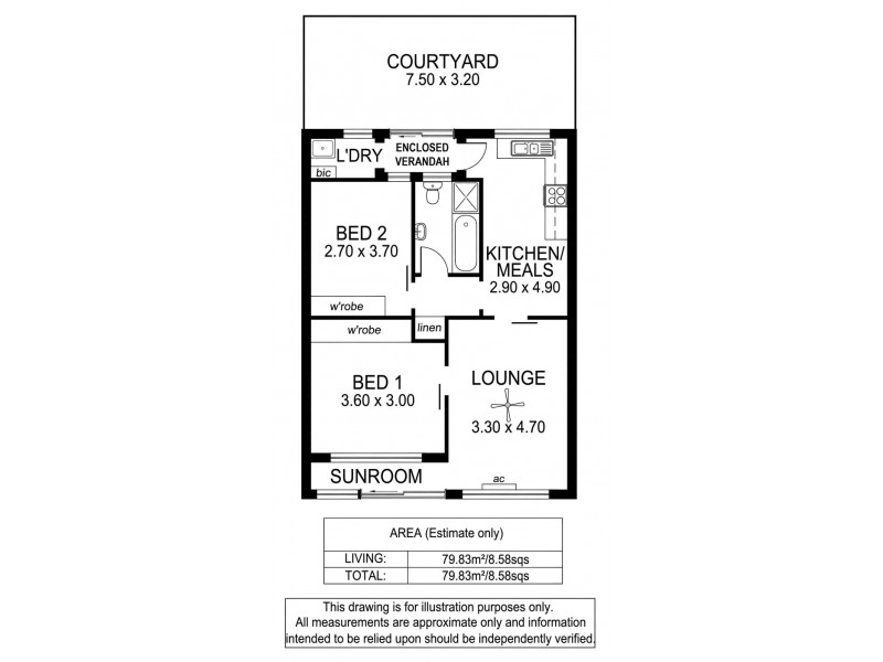 2/38 Esplanade, Christies Beach SA 5165 Floorplan