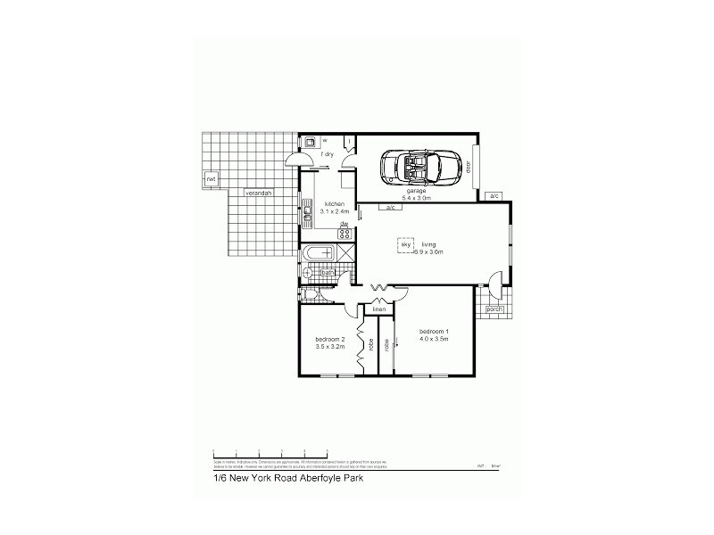 Unit 1, 6 New York Road, Aberfoyle Park SA 5159 Floorplan