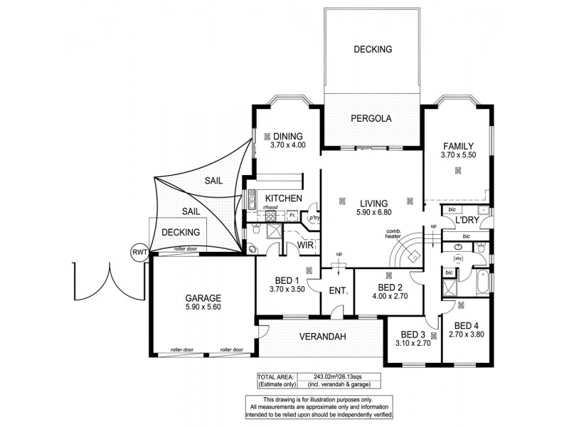 7 The Oaks Parade, Aberfoyle Park SA 5159 Floorplan
