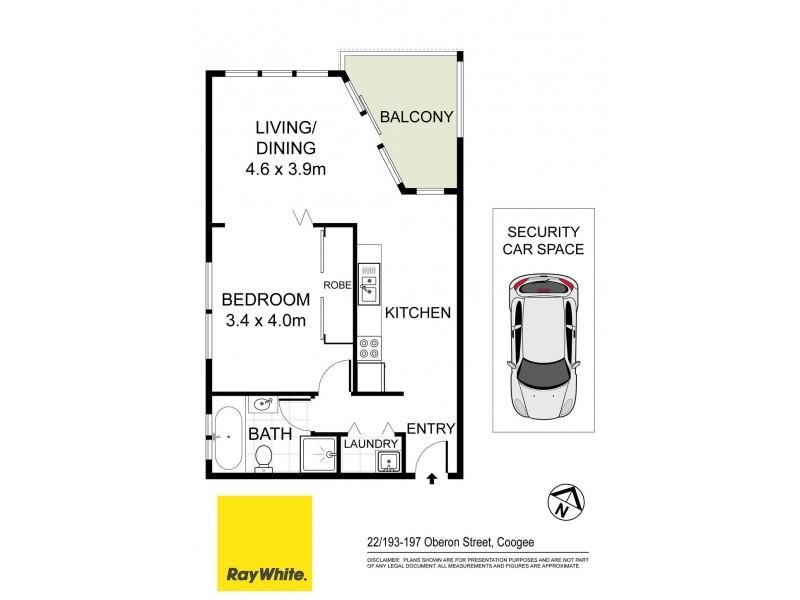 22/193-197 Oberon Street, Coogee NSW 2034 Floorplan
