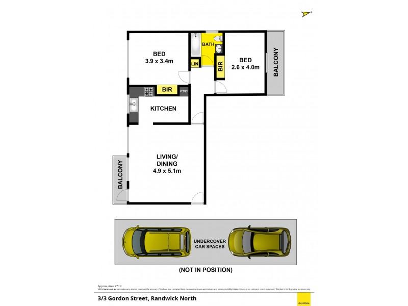 3/3 Gordon Street, Randwick NSW 2031 Floorplan