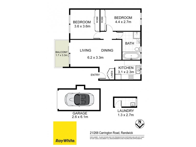 21/268 Carrington Road, Coogee NSW 2034 Floorplan