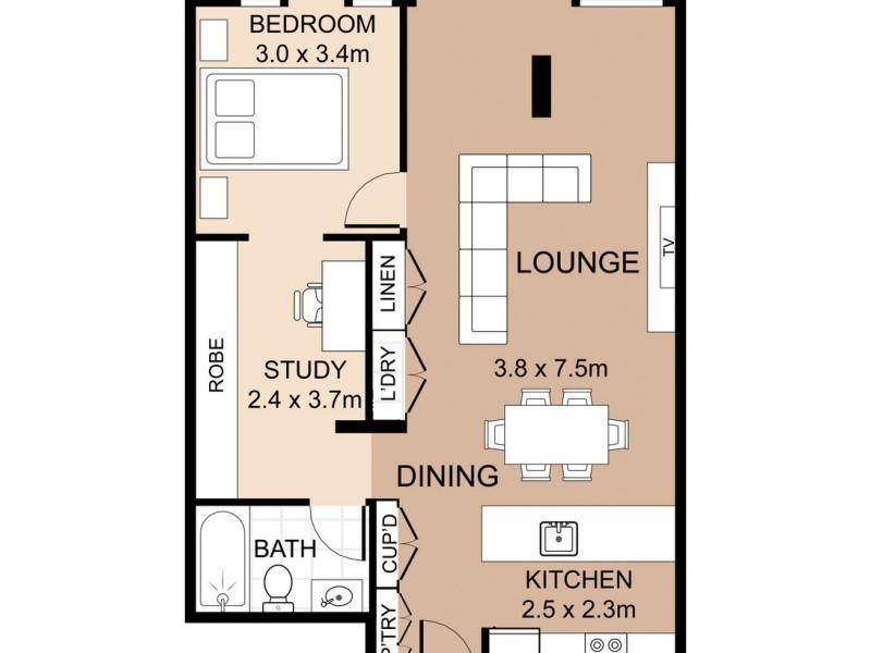 E213 / 310-330 Oxford Street, Bondi Junction NSW 2022 Floorplan