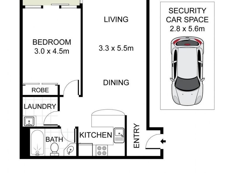 1/124 Macpherson Street, Bronte NSW 2024 Floorplan