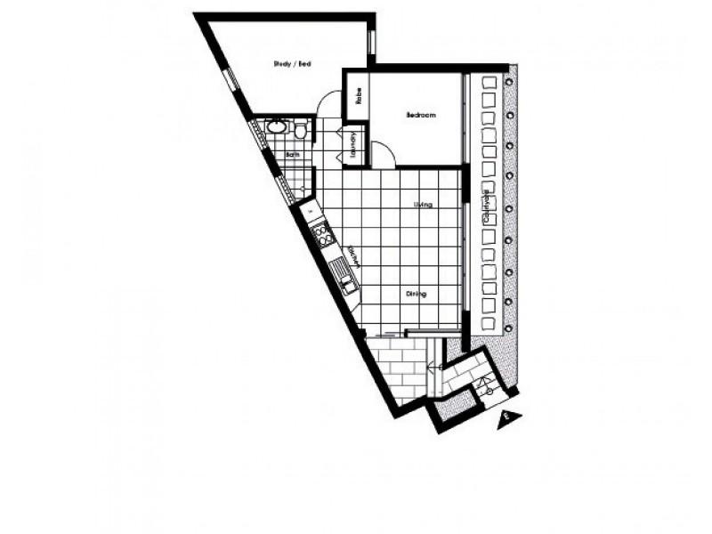 1/23 King Street, Randwick NSW 2031 Floorplan