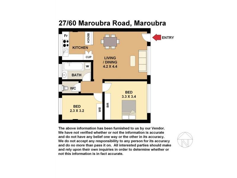 27/60 Maroubra Rd, Maroubra NSW 2035 Floorplan